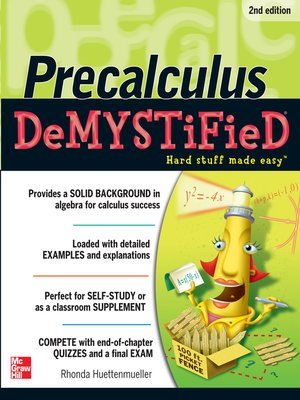 cover image of Pre-calculus Demystified
