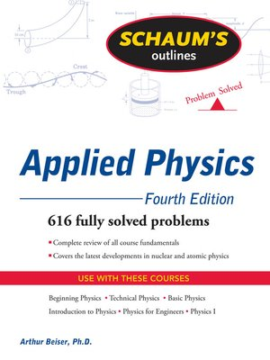 Schaums outlinesseries overdrive rakuten overdrive ebooks cover image of applied physics fandeluxe Images