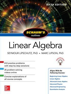 cover image of Schaum's Outline of Linear Algebra