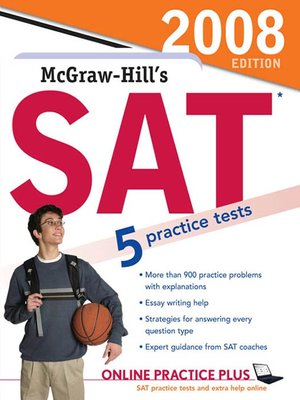cover image of McGraw-Hill's SAT, 2008 Edition