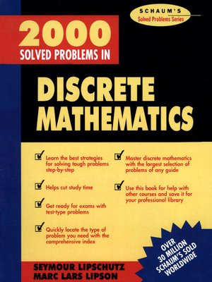 cover image of 2000 Solved Problems in Discrete Mathematics