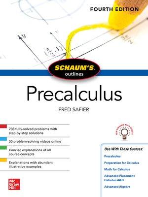 cover image of Schaum's Outline of Precalculus