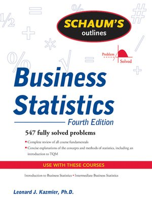 Schaums outlinesseries overdrive rakuten overdrive ebooks cover image of business statistics fandeluxe Images