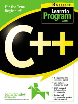 cover image of Learn to Program with C++