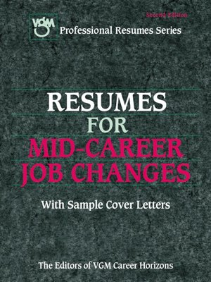 cover image of Resumes for Mid-Career Job Changers