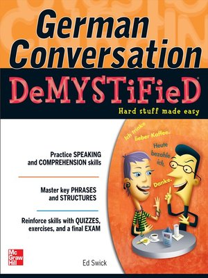 cover image of German Conversation Demystified