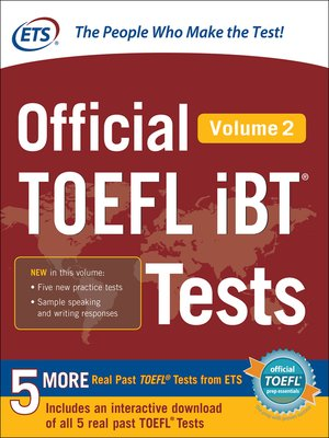 cover image of Official TOEFL iBT® Tests, Volume 2