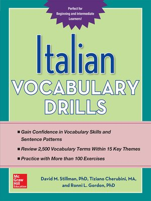 cover image of Italian Vocabulary Drills