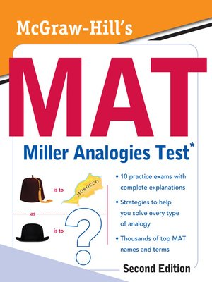 cover image of McGraw-Hill's MAT Miller Analogies Test