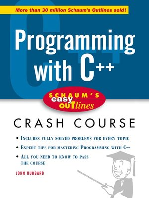 cover image of Programming with C++
