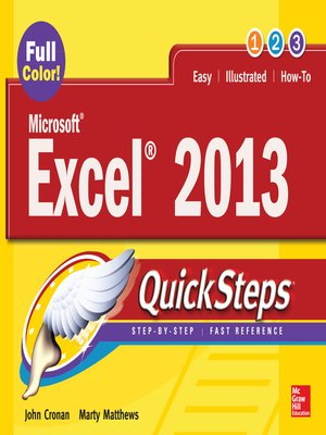cover image of Microsoft® Excel® 2013 QuickSteps