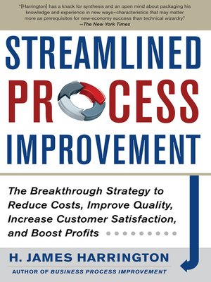 cover image of Streamlined Process Improvement