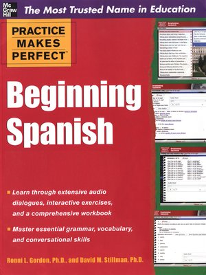 cover image of Practice Makes Perfect Beginning Spanish