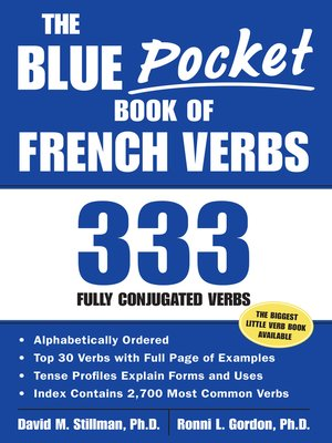 cover image of The Blue Pocket Book of French Verbs