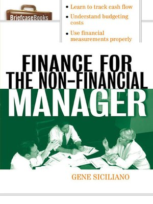 cover image of Finance for the Non-Financial Manager