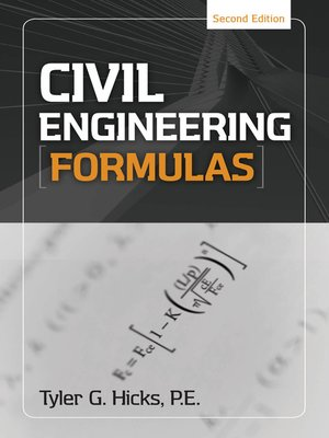 cover image of Civil Engineering Formulas