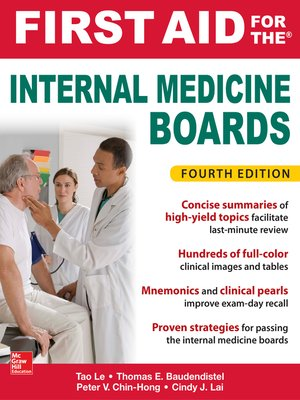 cover image of First Aid for the Internal Medicine Boards
