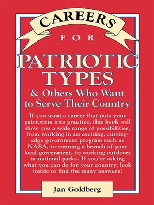 cover image of Careers for Patriotic Types & Others Who Want to Serve Their Country