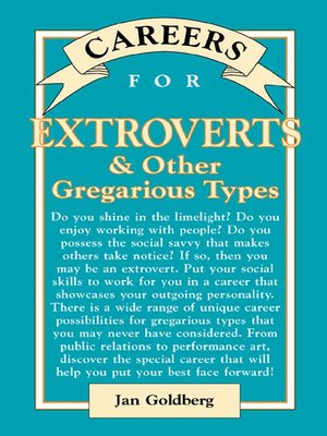 cover image of Careers for Extroverts & Other Gregarious Types