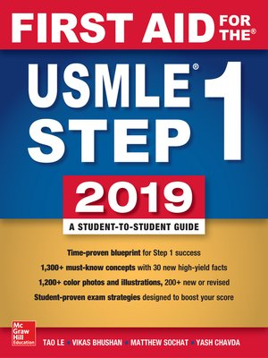 cover image of First Aid for the USMLE Step 1 2019,  Twenty-