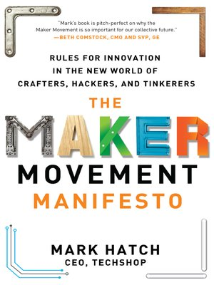 cover image of The Maker Movement Manifesto