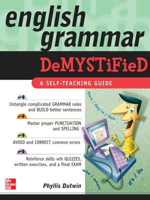 cover image of English Grammar Demystified