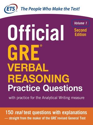cover image of Official GRE Verbal Reasoning Practice Questions