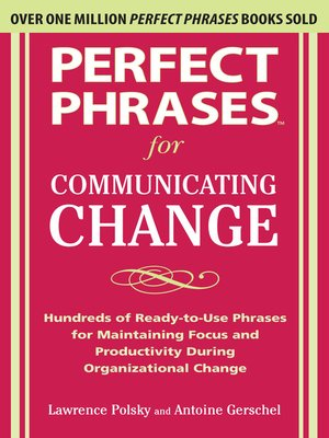 cover image of Perfect Phrases for Communicating Change