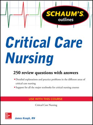cover image of Schaum's Outline of Critical Care Nursing