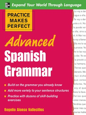 cover image of Advanced Spanish Grammar