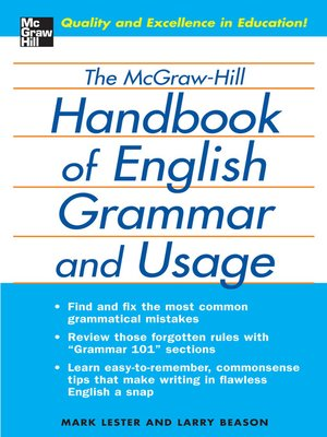 cover image of The McGraw-Hill Handbook of English Grammar and Usage