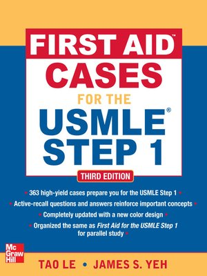 cover image of First Aid Cases for the USMLE Step 1