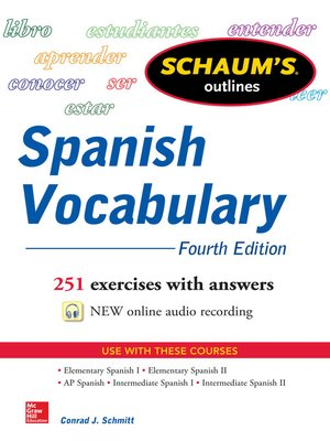 cover image of Schaum's Outline of Spanish Vocabulary