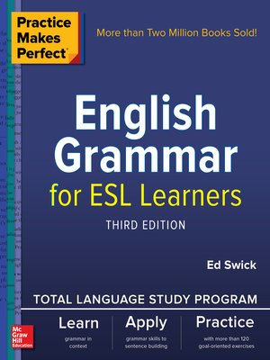 cover image of English Grammar for ESL Learners