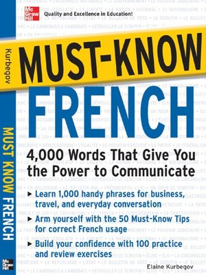 cover image of Must-Know French
