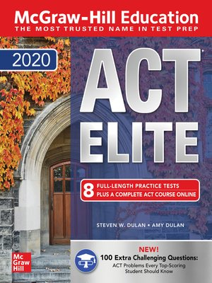 cover image of McGraw-Hill Education ACT ELITE 2020
