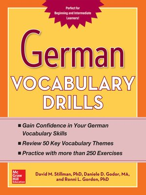 cover image of German Vocabulary Drills