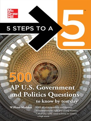 cover image of 500 AP U.S. Government and Politics Questions to Know by Test Day