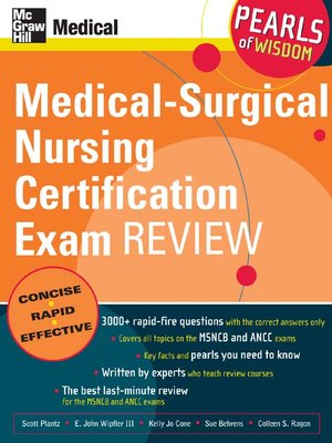 cover image of Medical-Surgical Nursing Certification Exam Review