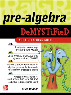 cover image of Pre-Algebra Demystified