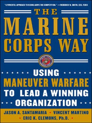cover image of The Marine Corps Way