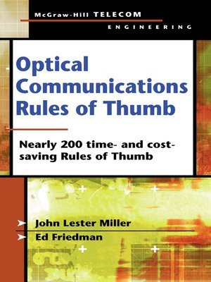 cover image of Optical Communications Rules of Thumb