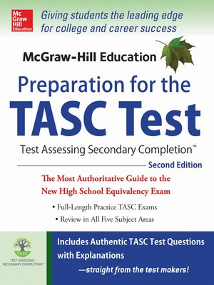 cover image of McGraw-Hill Education Preparation for the TASC Test