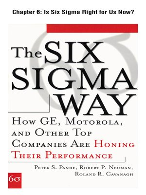 cover image of Is Six Sigma Right for Us Now?