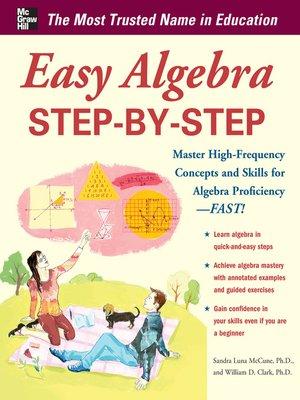 cover image of Easy Algebra Step-by-Step