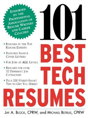 cover image of 101 Best Tech Resumes