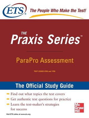 cover image of ParaPro Assessment