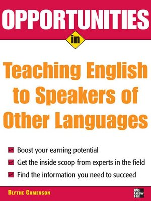 cover image of Opportunities in Teaching English to Speakers of Other Languages
