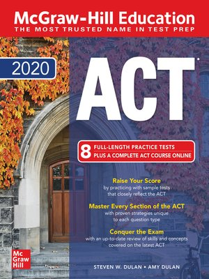 cover image of McGraw-Hill ACT 2020