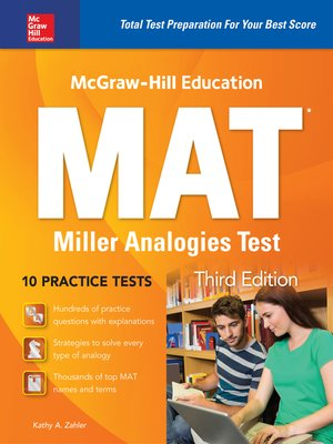cover image of McGraw-Hill Education MAT Miller Analogies Test